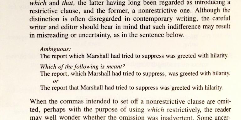 chicago manual comma before because