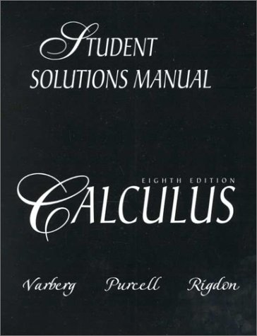 solution manual of calculus 1 8th edition