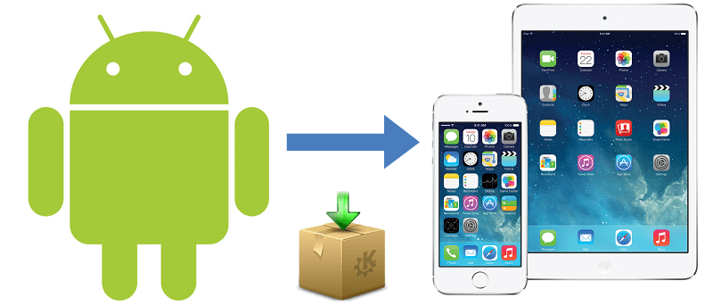 how to manually move images from android to iphone