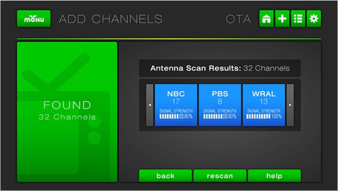how to manually scan for tv channels