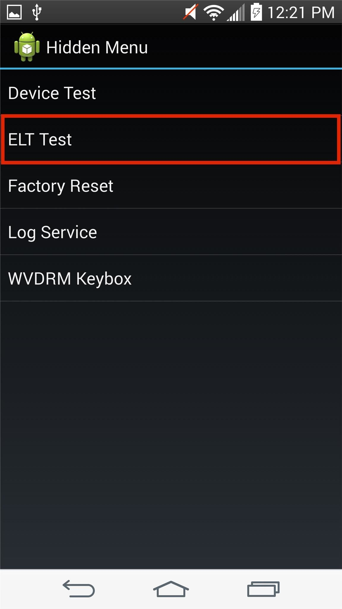 elt manual test for android
