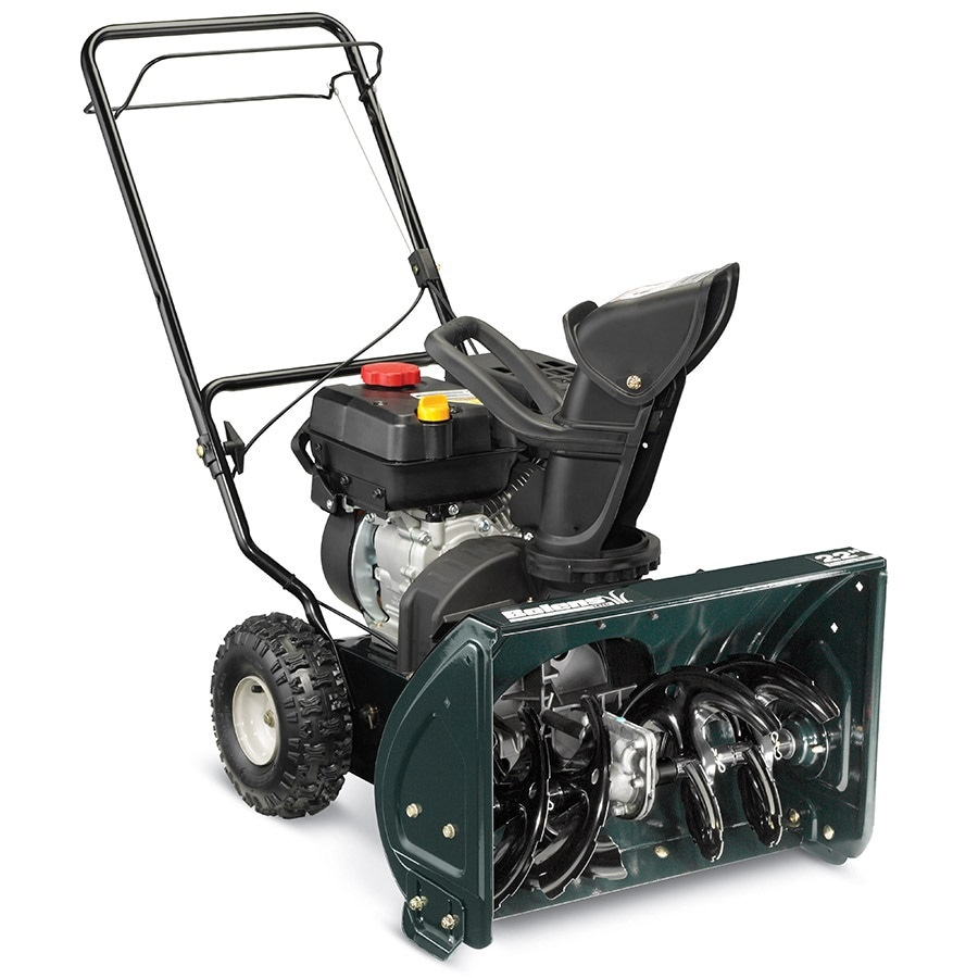bolens 22-in two-stage gas snow blower self-propelled manual