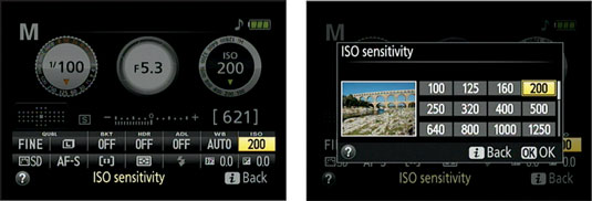 how to manually adjust aperture on nikon d5300