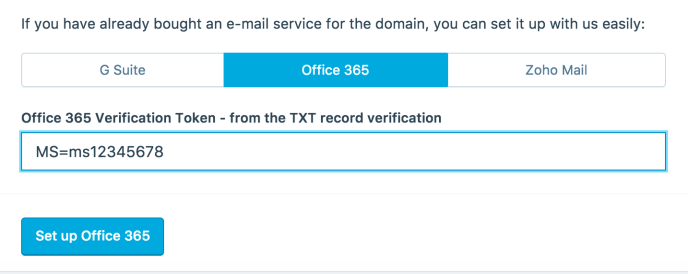 office 365 email setup manually